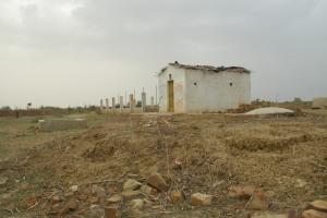 Abandoned bio-study building